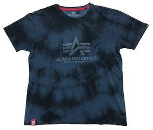 Alpha Industries Herren T-Shirt Basic Batik rep.blue S