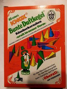 Knox Räucherkerzen  Bunte Duftkegel 40 Stück - DDR Retrodesign von 1972