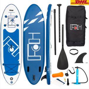 Aufblasbares SUP Board Set Stand Up Paddle Board Premium Surfboard Wassersport | 6 Zoll Dick | Komplettes Zubehör | 130kg , 300 x 82 x 15 cm