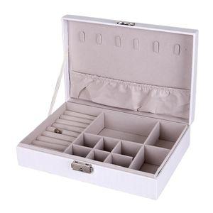 1pc Leder Schmuckschatulle Farbe Weiß