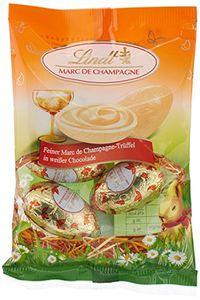Lindt Marc de Champagne Trüffel Eier weiße Schokolade 90g 3er Pack