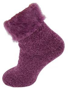 """Damen Thermo Socken """"Fluffy"""" 35 - 38 Pink"""
