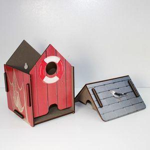 """Werkhaus ToPa Haus """"Bootshaus"""" rot Toilettenpapierhalter Badezimmer WC Accessoires"""
