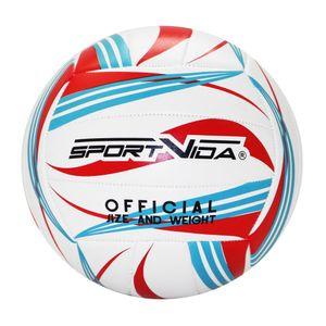 SportVida Volleyball Ball Beachvolleyball für Kinder und Erwachsene   Farbenauswahl (Weiß-Rot)
