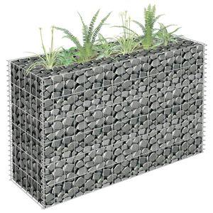 Gabionen-Hochbeet Garten-Hochbeet Hochbeet Verzinkter Stahl 90×30×60 cm