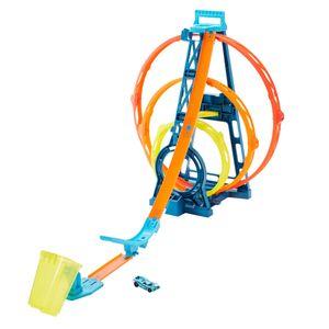 Hot Wheels Track Builder Unlimited Looping-Set, Autorennbahn inkl. 1 Spielzeugauto