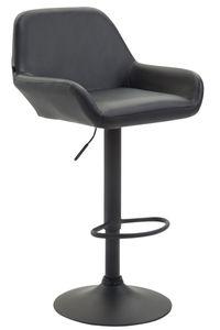 CLP Barhocker Braga Kunstleder drehbar und höhenverstellbar, Farbe:schwarz, Gestell Farbe:Schwarz