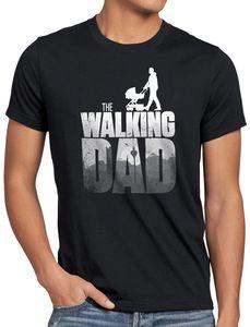 style3 The Walking Dad Herren T-Shirt zombie, Größe:M, Farbe:Schwarz