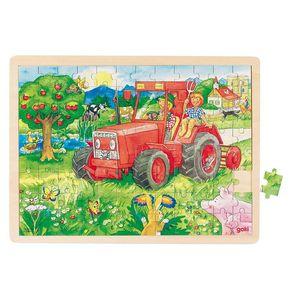 Einlegepuzzle Traktor, per St
