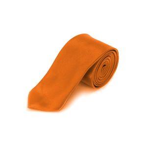 Oblique Unique Krawatte Schlips schmal Binder Style - orange