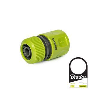 Bradas LE-2120 Schlauchmuffe Standard 1/2 Zoll Lime Edition, grün, 4 x 2 x 2 cm