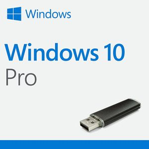 Microsoft Windows 10 Pro Key Deutsch Professional PC 32/64 Bit Notebook Lizenz Vollversion + Recovery USB Bootfähig