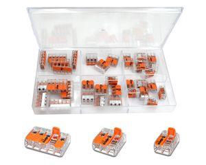 WAGO Sortimentsbox mit 35 Stück Verbindungsklemmen   Serie 221 Hebelklemme   Box Set Verbindungsklemme