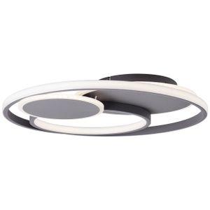 BRILLIANT Runda LED Deckenleuchte 50cm dunkelgrau matt G99371/22