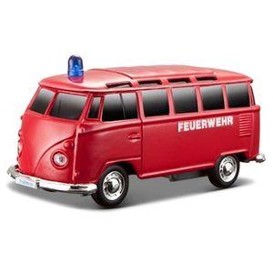 Maisto - VW T1 Einsatzfahrzeug mit Licht & Sound (12cm), Modell:Feuerwehr