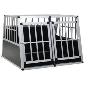Hundebox Hundetransportbox Hundekäfig | Transportbox Welpenauslauf für Hunde mit Doppeltür 94 x 88 x 69 cm