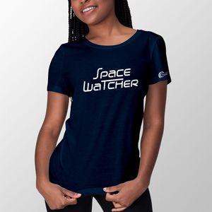 SpaceWatcher T-Shirt für Herren und Damen, 100% Baumwolle, Farbe: Dunkelblau, Größe: L