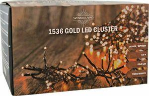 LED Cluster Lichterkette Büschel 1536 Galaxie extra warmweiß Timer Dimmer