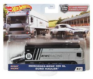 Mattel FLF56, GJT43 - Hot Wheels Premium Car Team Transport - #19-22 Q2 2020 #21 - Mercedes-Benz 300 SL + Euro Hauler