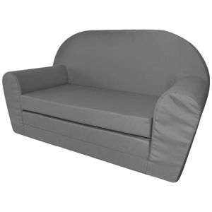 Hochwertigen Kinder Ausklapp-Loungesessel Kinderstühle Babystuhl Grau