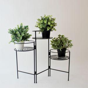 3er Blumenständer Metall Pflanzenregal 66x22xH49cm