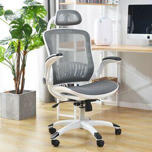 Bürostuhl Chefsessel Drehstuhl Schreibtischstuhl Büro Sitzmöbel verstellbar Weiß