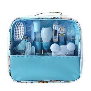 Babypflege Kit 13 teile/satz Neugeborenen Pflegen Set Wesentliche Healthcare Zubehör für Reisen Heimgebrauch mit Tragetasche (Blau)