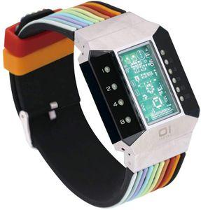 THE ONE Uhr Herren Binär-Armbanduhr Split Screen SC102B6