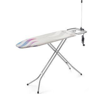 Vileda Total Reflect Plus M Bügelbrett Bügeltisch Bügelfläche 120 x 38 cm Höhenverstellung Kabelhalter
