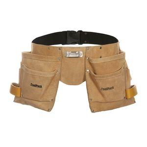 Toolpack Werkzeuggürtel mit 2 Taschen Superior Leder 366.004