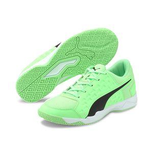 Puma Auriz Jr Unisex Kinder Hallenschuhe Fußballschuhe Sportschuhe, Größe:EUR 36   UK 3.5   22.5 cm, Farbe:Grün (Electric Green)