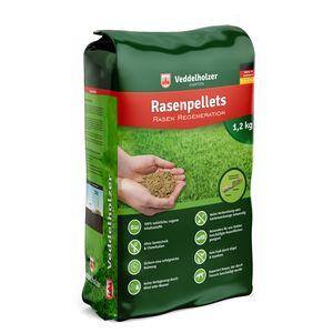 Veddelholzer Garten Rasenpellets Dürreresistenter Rasen - Rasensamen für robusten und widerstandsfähigen Rasen - Grassamen für 30m² - 40 m² zur Einsaat und Nachsaat - Samen geeignet für Schattenrasen