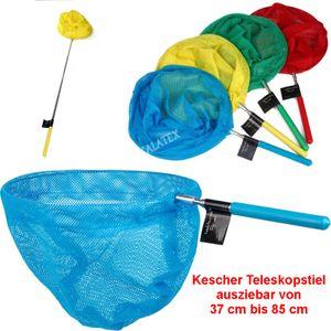 GKA Kinder Kescher Teleskopstiel Pool Fangnetz Teichkescher Strand Schmetterling Angeln Aquarium Poolreiniger