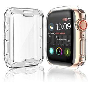 Apple Watch Silikon Schutzhülle Case 360° Full Cover Transparent Serie 1 2 3 4 5, Gehäusegrösse:40mm