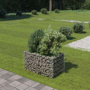Gabionen-Hochbeet Garten-Hochbeet Hochbeet Verzinkter Stahl 90×50×50 cm