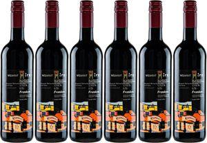 6x Regent Rotwein feinherb  – Weingut Hirn - Im Weinparadies, Franken – Rotwein