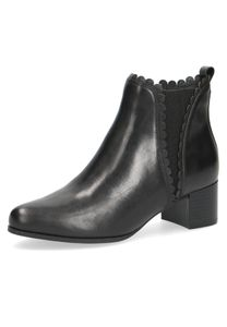 Caprice Damen Elegante Stiefelette 9-25314-27 Schwarz 022 Black Nappa Leder CA CLIMO FB Absatz, Groesse:40 EU