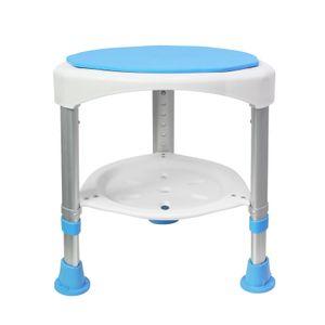 LZQ Duschhocker Badhocker Höhenverstellbar 360°Drehbarer 200kg - Duschstuhl Duschhilfe Duschsitz Badsitz (Duschhocker Höhenverstellbar 360°Drehbarer - 1)