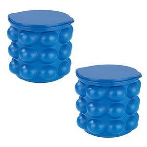 2x GourmetMaxx 3in1 Eiswürfelbereiter mit Silikon Deckel Eiswürfelform Eiswürfelbehälter Eiseimer Eiswürfeleimer Eiswürfel Form Behälter Bereiter Eiskübel