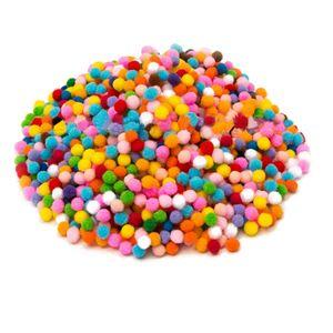 2000 Stück Bällebad Bälle Bällebadbälle Bunte Farben ø 2 cm Ball Baby, Farbige dekorative Plüschball-Mischfarbe