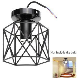 Deckenlampe Hängeleuchte Industrielampe Leuchte Schwarz Metall Vintage E27 DE