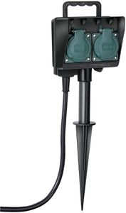 Brennenstuhl Gartensteckdose mit Erdspieß IP44 2-fach 1,4m H07RN-F 3G1,5, 1154430