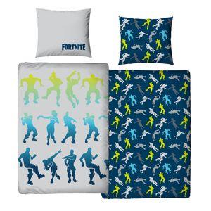 Fortnite Bettwäsche 80x80 + 135x200 cm · Jungen / Teenager Bettwäsche - 100% Baumwolle