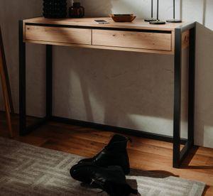 Konsolentisch Denver in Artisan Eiche Anthrazit Industrial Look als Wandtisch und Konsole 100 x 75 cm