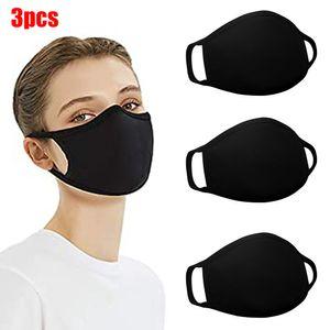 3-teilige 2-Lagen-Gesichtsmaske aus Baumwolle