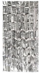 Türvorhang Lametta 250x100cm, Farbauswahl:silber