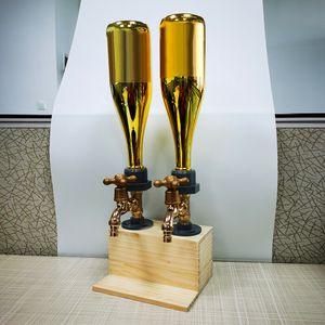 2- Wasserhähne Whisky Spender Whiskey wood Dispenser Bar Alkohol Trinken Alkoholspender