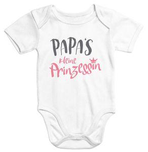 Kurzarm Baby Body Papas kleine Prinzessin Onesie Mädchen Moonworks®  0-3 Monate