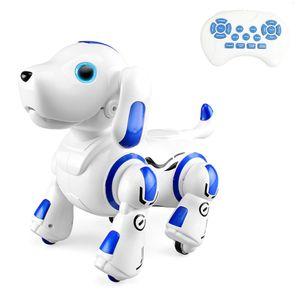 Roboterhund Fernbedienung 2,4 GHz Roboter Hund Welpe Intelligent Smart Interactive Singen Tanzen Programmierbares Spielzeug Kinder Geburtstagsgeschenk (Blau)