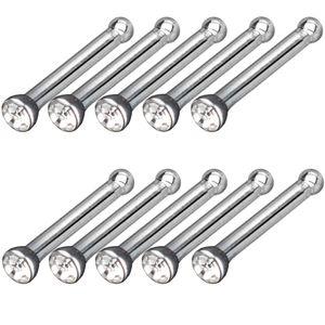 viva-adorno 10er Set Kristall Klar Set Nasen Piercing 0,8mm Zirkonia Kristall Nasen Stecker Z240b
